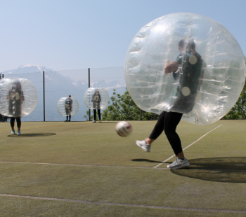 Summer Camp's newest activity: Bubble Football